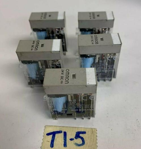 Omron G2r-2-S(S) Plug In Relay, 8 Pins (Lot Of 5) Fast Shipping!~Warr