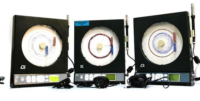 Used Newport & Omega CTXL-TRH-G/N Temperature Humidity Chart Recorder Lot of 3 (7456)