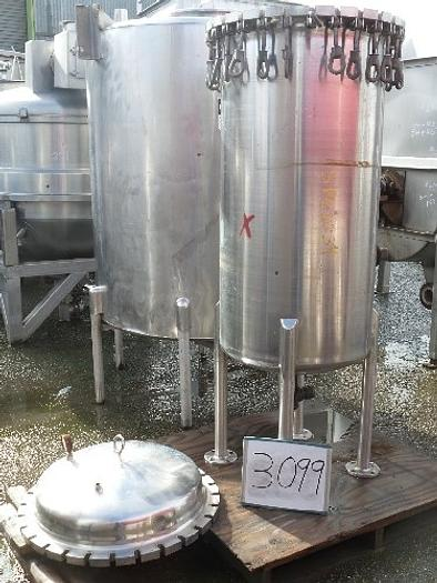 Brighton Corp. 110 Gallon Vertical Stainless Steel Pressure Tank