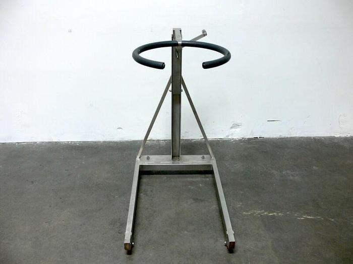 Used Tilting Stainless Steel Lab Glassware Rolling Stand / Clamp