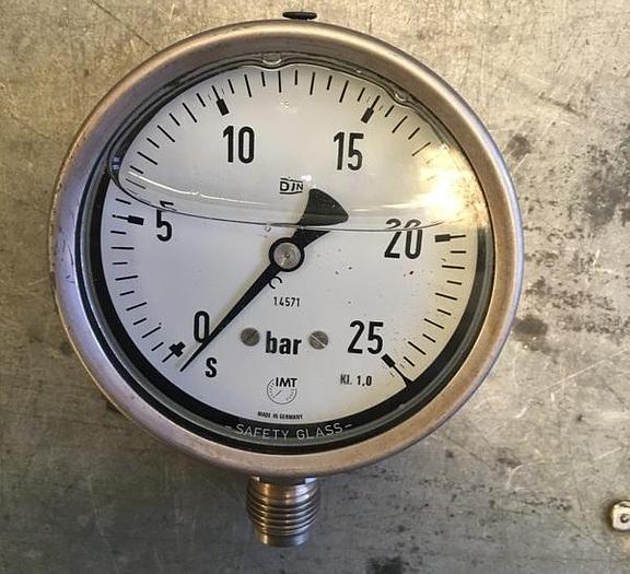 Used IMT Radial Pressure Gauge 0-25 bar