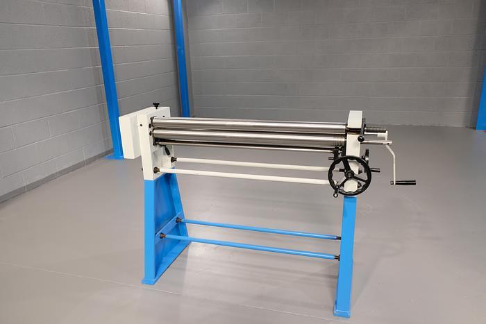 MACH-ROLL 1000 mm x 60mm geared bending rollers