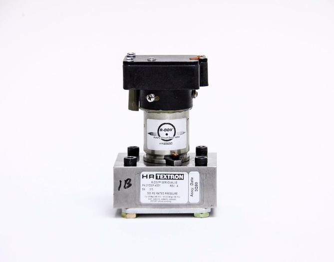 Used HRT Textron 27C20F-4D01 R-DDV Servovalve Rotary Direct Drive Valve 500 PSI (2955
