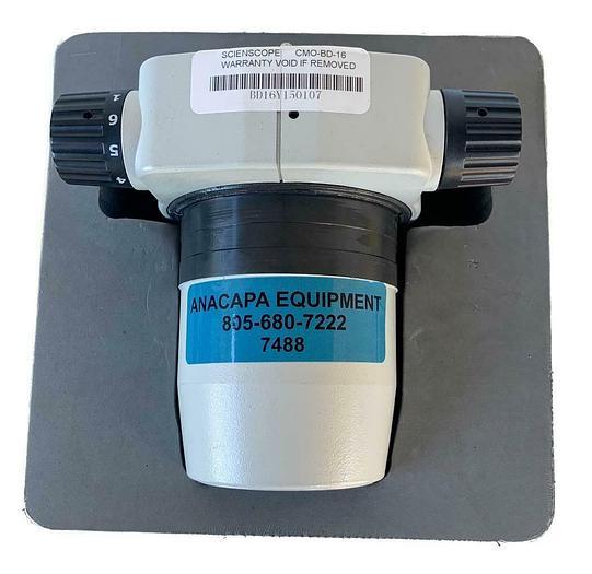 Used Scienscope CMO-BD-16 Zoom Body 1:6 Ratio Microscope Body (7488) W