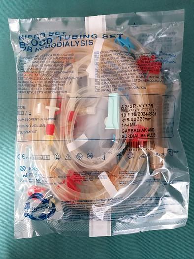 Gebraucht Nipro Blutschlauchsystem Model, A252R-V777R GT (64 Stücke)