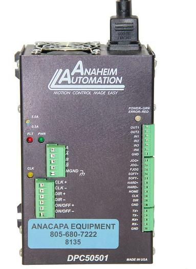 Used Anaheim Automation DPC50501 Motion Controller Step Motor Drive Pack (8135)W