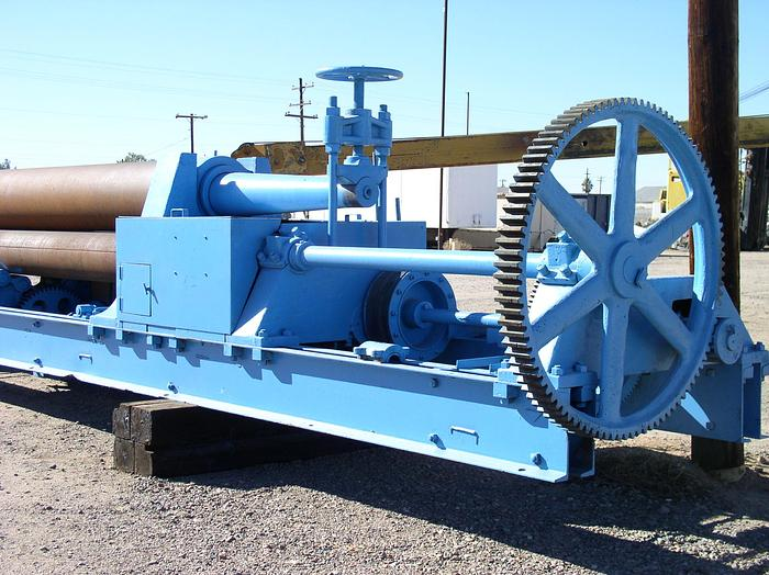 "16' x 1"" HILLES & JONES Plate Bending Roll; Pyramid Type; Vari-Speed; Hyd. Drop End; 60 HP Main Drive; New Controls; Recond."