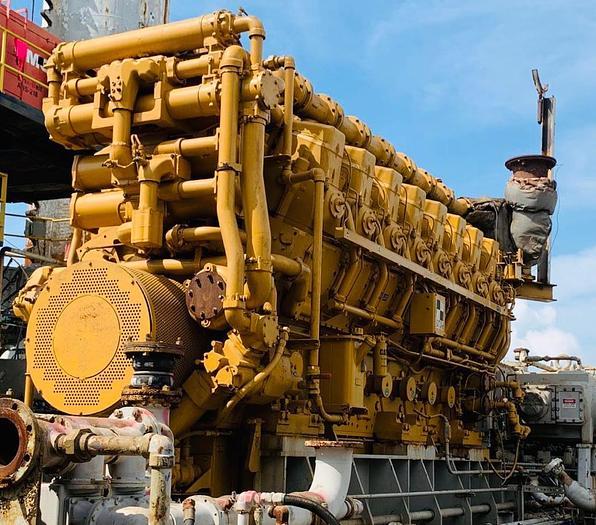 Caterpillar 3616 gas engine.