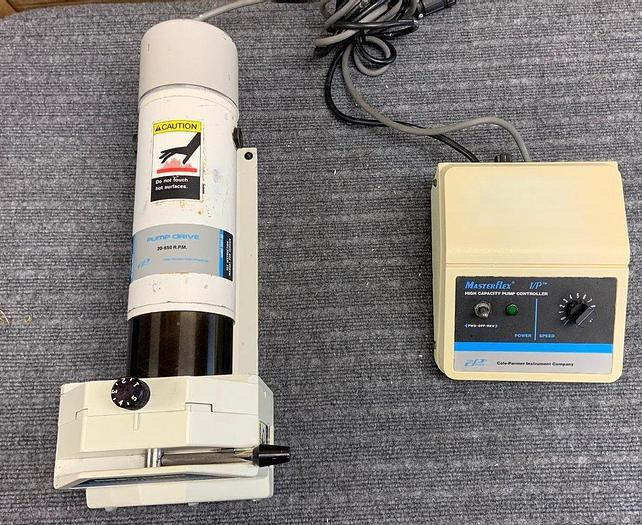 Used Cole Parmer 7529-10 Pump Drive with EASY LOAD Masterflex Head controller