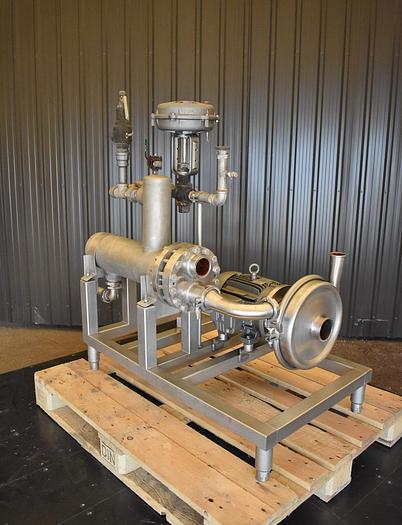 Used USED SHELL & TUBE HEAT EXCHANGER WITH CENTRIFUGAL PUMP, STAINLESS STEEL