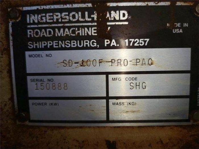 1997 INGERSOLL-RAND SD100F