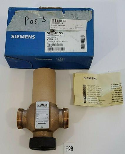 *NEW* SIEMENS VVG41.20 Control Valve threaded 2-Port PN16  DN20 + WARRANTY!