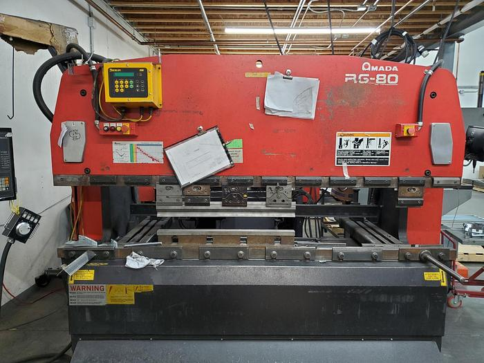 Used 2003 88 Ton Amada RG-80 CNC Press Brake