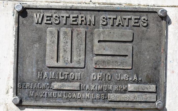USED CENTRIFUGE, SOLID BASKET, WESTERN STATES, 14'' X 6''