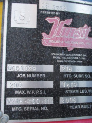 Hurst 200 PSI Steam Boiler