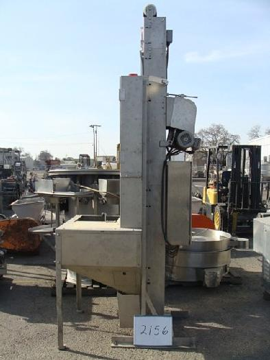 Used Silgan Model ME4 Cap Feed Hopper ME4