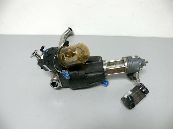 "Used Lot of 2 ITT Pure-Flo Diaphragm Actuators 1"" & 1.5"" w/  Conoflow Transducer"