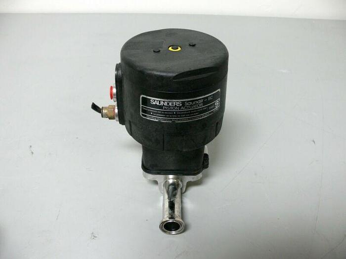 "Used Crane Saunders Saunair - EC 8 bar Piston Actuator 33750 w/ 1"" Diaphragm Valve"