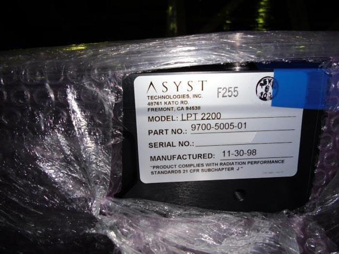 Asyst LPT 2200 Indexers Sold tested in working condition.