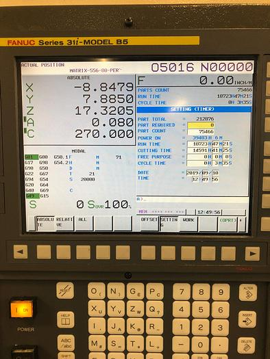 2013 Fanuc  Robodrill D21MiA5 with 4th & 5th Axis