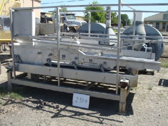 Commercial Mfg. 4' Wide x 11; Long Dewatering shaker #2304
