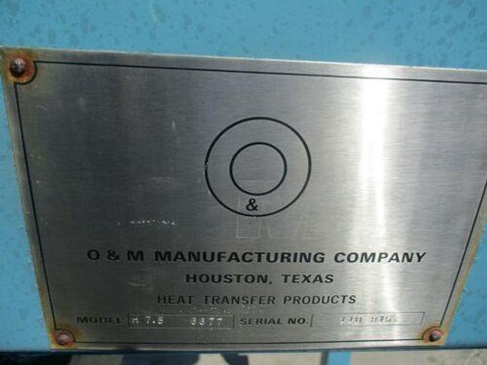 O&M MANUFACTURING COMPANY H 7.5 6677 S/N 110 815
