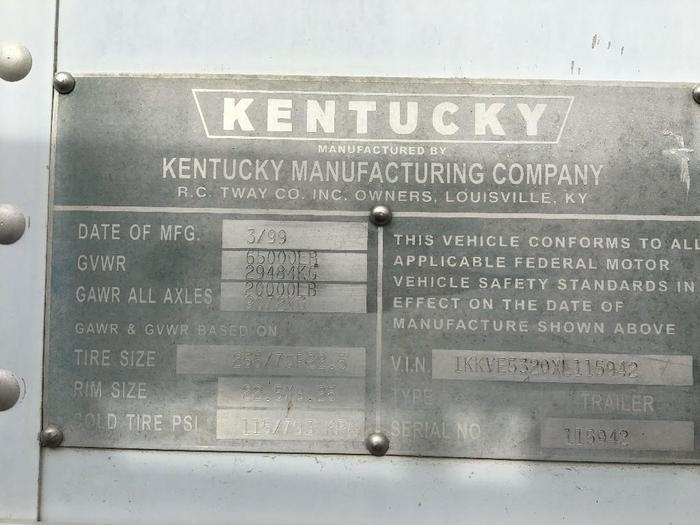 1999 KENTUCKY MOVER BOX