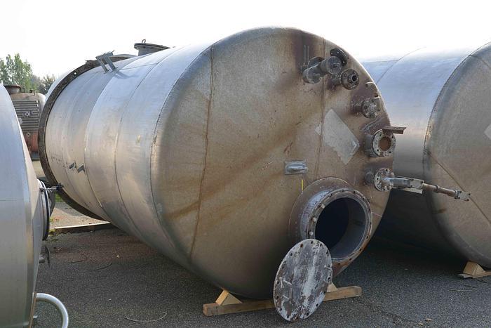 Usata Serbatoio verticale da 18 m3 in acciaio inox, fondo piano