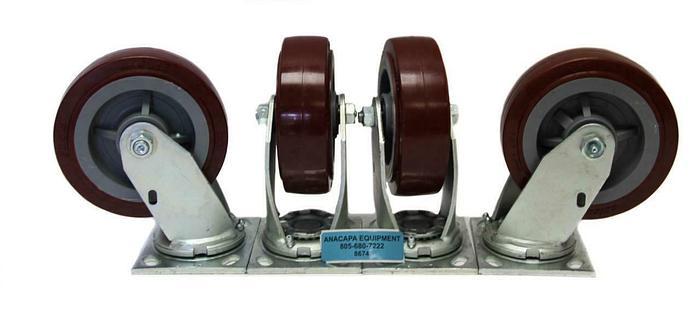 "Colson Polyurethane Wheel Heavy Duty Swivel Caster 6"" x 2"" NEW Lot of 4 (8674)W"