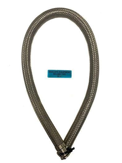 "Used Unbranded KF16 Braided SS Flexible Vacuum Hose, Length 40"" (8614) W"