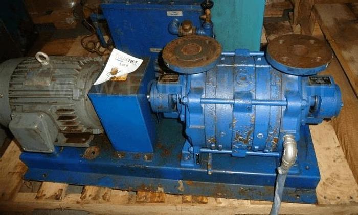 Used KINNEY MODEL KLRC-40FA2 LIQUID RING VACUUM PUMP – C/I – T-316L S/S