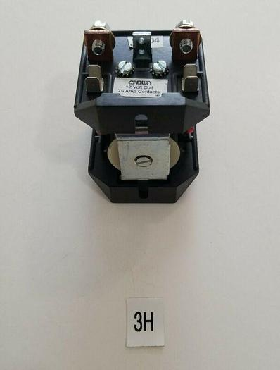 *NEW - NO BOX* Crown 90304 (91769-4) Forklift Contactor 12V DC 75A