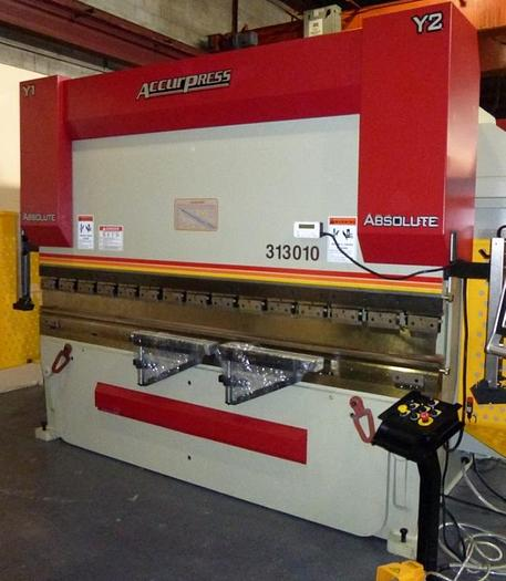 130 TON X 10', ACCURPRESS ABSOLUTE 313010, CNC PRESS BRAKE