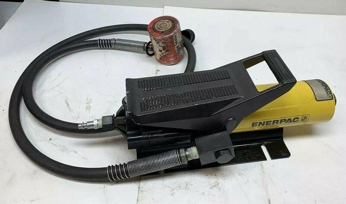 Used Enerpac PA135 Hydraulic Foot Pump 5000PSI 350 Bar Power Team RSS101