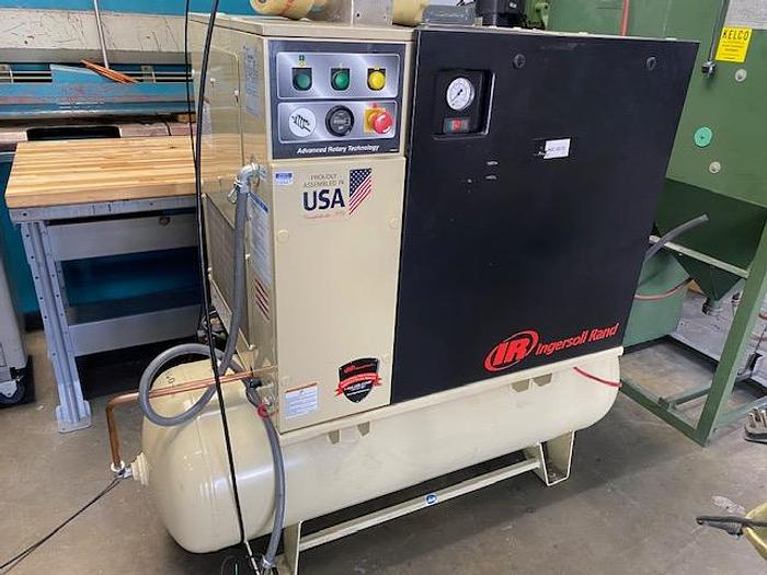 Used INGERSOLL RAND UP6-5TAS-125 ROTARY AIR COMPRESSOR 5 HP 80 GALLON  #5861