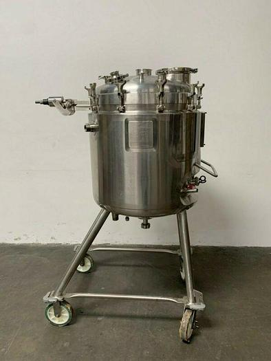 Used Walker 250 Liter Stainless Steel Jacketed Reactor 45 PSI - No Mixer