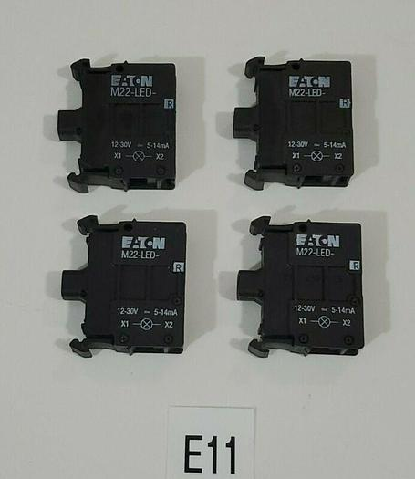 *NEW* LOT OF 4 EATON M22-LED-R RED LED UNIT IEC 60947-5-1 + WARRANTY!