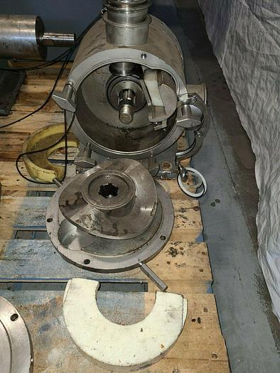 Used Rotary Lobe Positive Displacement Pump Stainless Steel