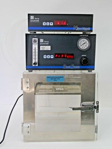 Used Terra Universal 3950-51A Desiccator 9500-00A Nitrowatch 1606-61 Dual Purge (8160