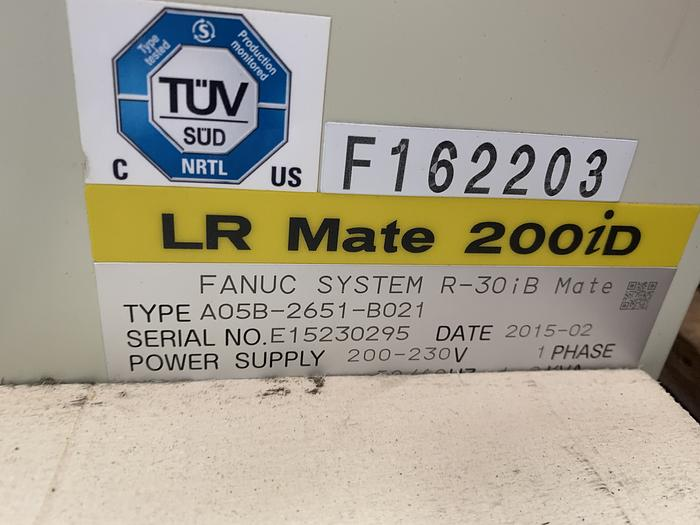 FANUC LR MATE 200iD/7H 5 AXIS CNC ROBOT WITH LR MATE R30iB CONTROLLER