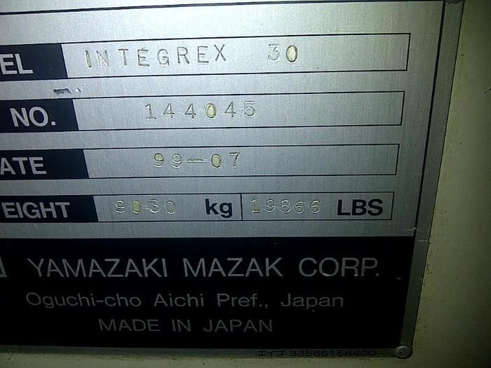 1999 MAZAK Integrex 30Y/1000