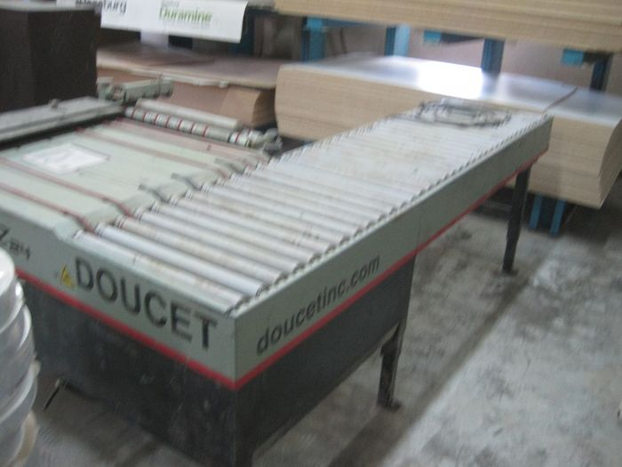"Doucet Doucett 24"" Left hand Return Conveyor for Sander/Shapers"