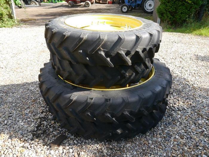 Used Set of John Deere Row Crop Wheels and Tyres