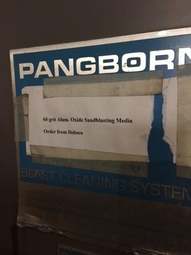 1978 Pangborn EN-7 Blast Cabinet