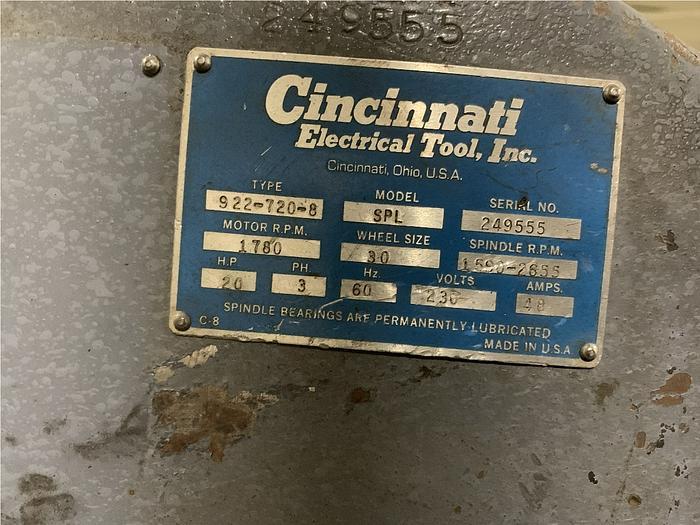 CINCINNATI 922-720-8 GRINDER (On Hold)
