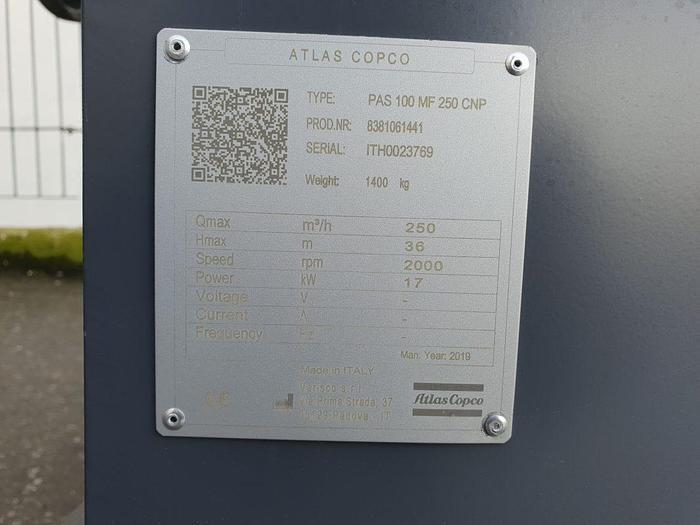 Atlas Copco PAS 100MF
