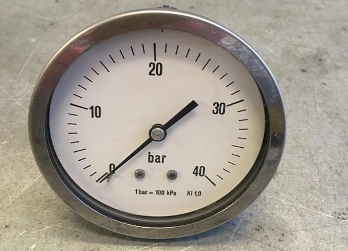 Axial Pressure Gauge 0-40 bar