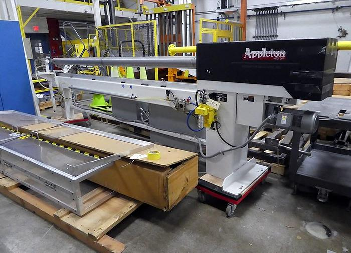 "Used 132"" APPLETON MODEL P510 PROGRAMMABLE AUTOMATIC CORE CUTTER MFG. 2012"