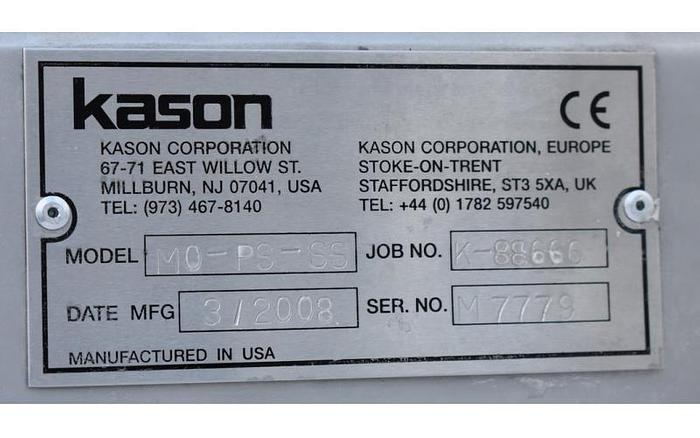 USED KASON PNEUMATIC CENTRIFUGAL SIFTER, STAINLESS STEEL