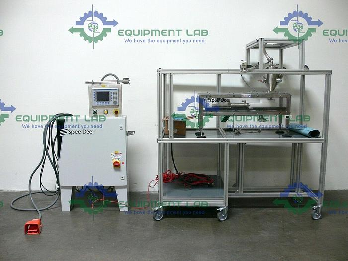 Used Spee-Dee Packaging Machinery Slide Cup Filler w/ Control Unit & Spare Parts
